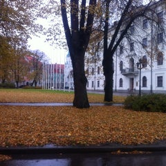 Photo taken at Pils laukums | Castle square by Oscar on 10/25/2012