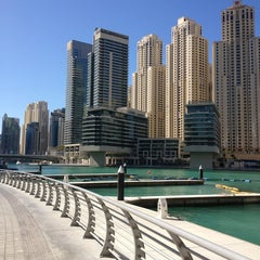 Photo taken at Dubai Marina Walk ممشى مرسى دبي by Zulfiya T. on 12/30/2012