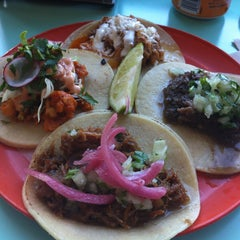 Photo taken at La Taqueria Pinche Taco Shop by Brian L. on 4/30/2013