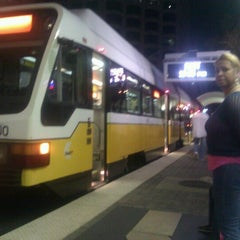Photo taken at Pearl/Arts District Station (DART Rail) by Roy H. on 10/21/2012