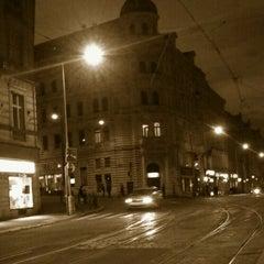 Photo taken at Strossmayerovo náměstí (tram) by Tigra . on 4/15/2013