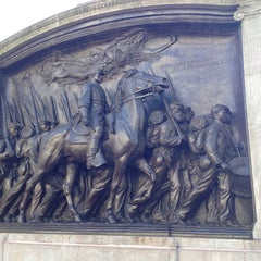 Photo taken at Robert Gould Shaw Memorial by Martha K. on 11/23/2013