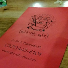 Photo taken at Ate-Oh-Ate by Andrew H. on 1/29/2013