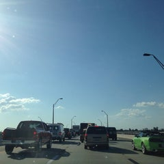 Photo taken at Caloosahatchee Bridge by Jeff O. on 5/8/2014