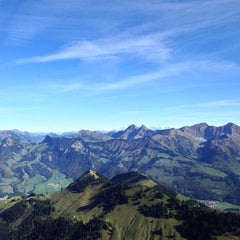 Photo taken at Moléson-sur- Gruyères by Nuno R. on 10/19/2014