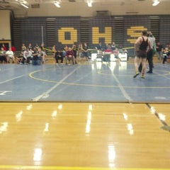 Photo taken at Owosso High School by Kevin Michael F. on 12/8/2012