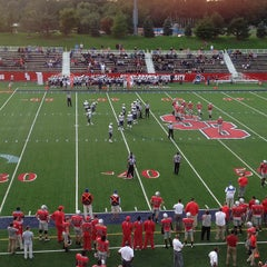 Photo taken at Kenneth P. LaValle Stadium by Phil C. on 10/6/2012