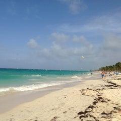 Photo taken at Riu Palace's Beach by Raj P. on 7/19/2013