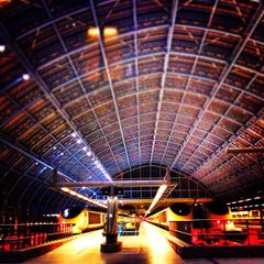 Photo taken at London St Pancras Eurostar Terminal by Justene on 11/7/2012