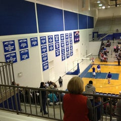 Photo taken at Schofield Gym @ Byrnes HS by Lynn C. on 2/9/2013