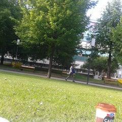 Photo taken at Hof 9 - Campus der Universität Wien by Mel C. M. on 5/9/2014