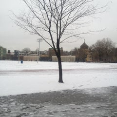 Photo taken at McCarren Park Track by Lauren B. on 3/19/2013