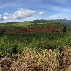 Photo taken at Hanapepe Canyon Lookout by Steph on 10/29/2014