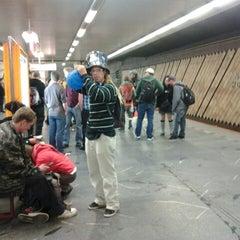 Photo taken at Metro =C= Nádraží Holešovice by Jan P. H. on 9/27/2014