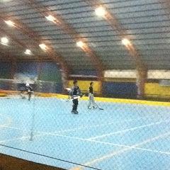 Photo taken at Gool Futsal Mangga Dua by Jessica T. on 3/23/2012