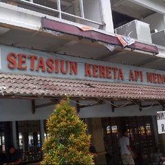 Photo taken at Stasiun Medan by Agus C. on 9/12/2012