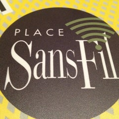 Photo taken at Place Sainte-Foy by Lucia B. on 4/13/2012