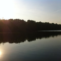 Photo taken at Hawk Island County Park by Adrienne S. on 5/20/2012