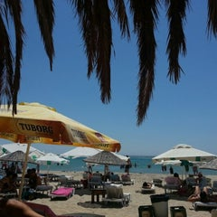 Photo taken at Ramo Beach by Cavus on 8/19/2012