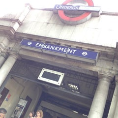 Photo taken at Embankment London Underground Station by onezerohero on 8/2/2012