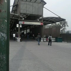Photo taken at Metrobús  Indios Verdes by gh r. on 2/25/2012