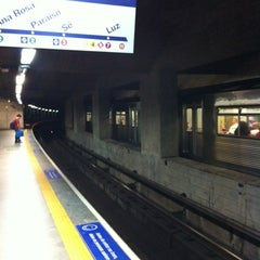 Photo taken at Estação Vila Mariana (Metrô) by George on 9/2/2012