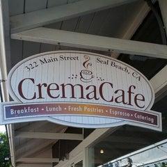 Photo taken at The Crema Cafe by Ryan C. on 2/4/2012