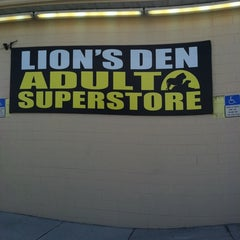 Photo taken at Lion's Den Adult Superstore by Jamie W. on 6/11/2011