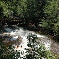 Photo taken at Sliding Rock by Mayda P. on 7/19/2012