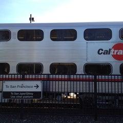 Photo taken at California Ave Caltrain Station by Karen H. on 4/19/2012