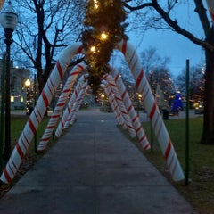 Photo taken at Bronson Park by Jill O. on 12/5/2011