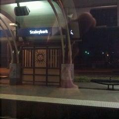 Photo taken at LYNX Scaleybark Station by Justin J. on 3/7/2012