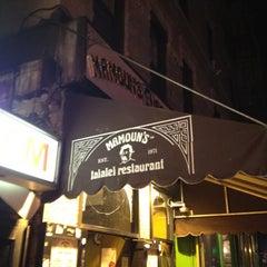 Photo taken at Mamoun's Falafel by Olga V. on 8/23/2012