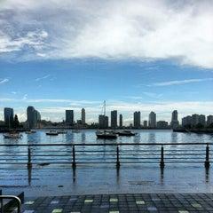 Photo taken at Pier 25 — Hudson River Park by Justin S. on 8/27/2012