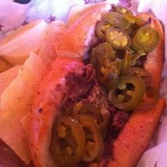 Photo taken at Texadelphia Sandwiches & Sports by Allen A. on 10/12/2011