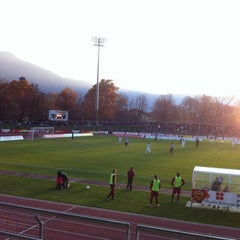 Photo taken at Stadio Comunale, Bellinzona by Giannini G. on 11/20/2011