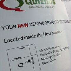 Photo taken at Quiznos by @LorenzoAgustin ☆ on 7/29/2012