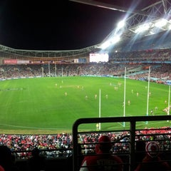 Photo taken at ANZ Stadium by Kristie B. on 8/11/2012