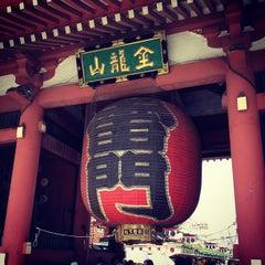 Photo taken at 浅草寺 (Sensō-ji Temple) by Paul S. on 8/9/2012