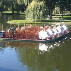 Photo taken at The Swan Boats by William T. on 9/11/2012
