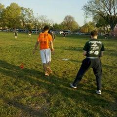 Photo taken at WAKA DC Capital Kickball Fields by Andy F. on 4/14/2011