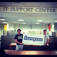 Photo taken at Dimond Library by Jason B. on 4/16/2012