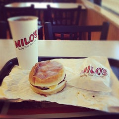 Photo taken at Milo's Hamburgers by Sean D. on 3/27/2012