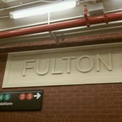 Photo taken at MTA Subway - Fulton St (A/C/J/Z/2/3/4/5) by Tanaya C. on 9/14/2011