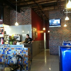 Photo taken at AJ's Burgers by polly k. on 11/2/2011