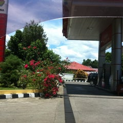 Photo taken at SPBU Pertamina 74.955.05 by Nicky S. on 10/25/2011