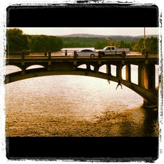 Photo taken at Pfluger Pedestrian Bridge by Ian K. on 8/22/2012