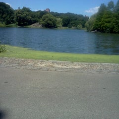 Photo taken at Central Park - Harlem Meer by Juan S. on 6/27/2012