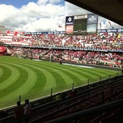 Photo taken at Estadio Nemesio Diez by Olalla L. on 7/31/2011