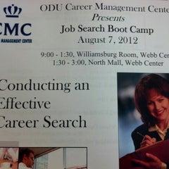 Photo taken at ODU Career Management Center by Matt P. on 8/7/2012